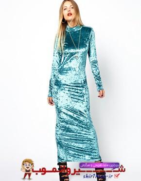 عکس های مدل لباس بسیار زیبا مخمل مخصوص خانم های شیک پوش