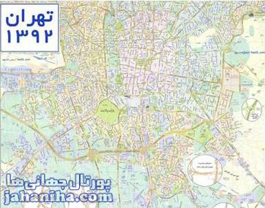 دانلود نقشه تهران – Download Map Of Tehran