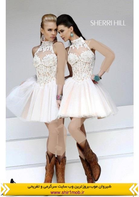 مدل جدید لباس کوتاه مجلسی و گیپور 92