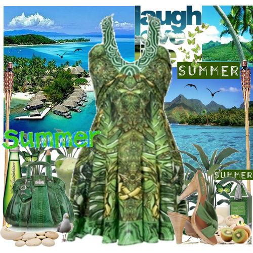 ست لباس تابستانه سبز ۲۰۱۳