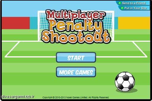 بازی پنالتی آنلاین با قابلیت دو نفره