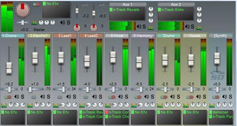 نرم افزار میکس صدا(n-Track Studio 7)
