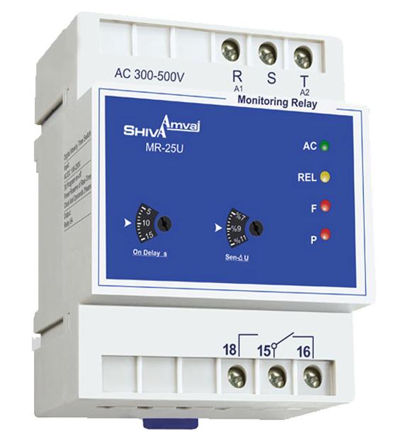 نحوه اتصال رله کنترل فاز در مدارات برق صنعتی