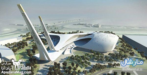 عکس های ساخت مسجد بسیار مدرن در کشور قطر
