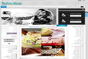 فروش قالب زیبای تکنو موزیک (اختصاصی) | WwW.BestBaz.IR