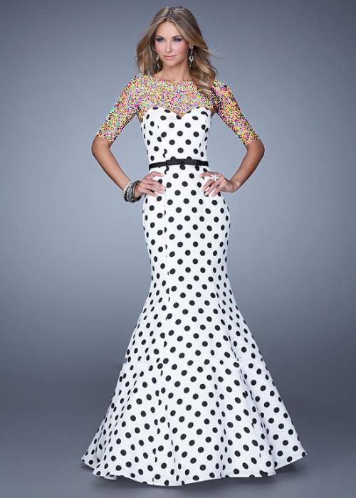 مدلهای جدید لباس مجلسی سفید و مشکی زنانه ۲۰۱۵-۹۴