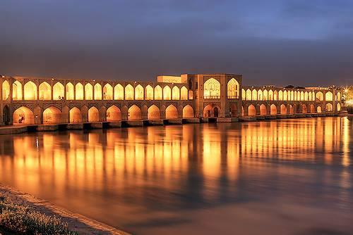سی و سه پل اصفهان قدیم و حال