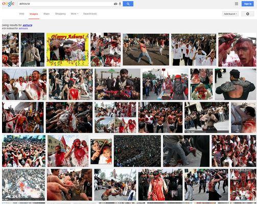 گوگل چهره عاشورا و محرم را خشن نشان میدهد + عکس