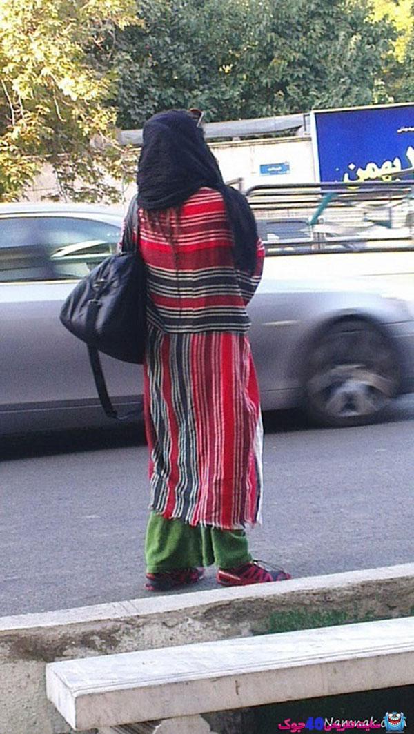 لباس عجیب دختر تهرانی در خیابان
