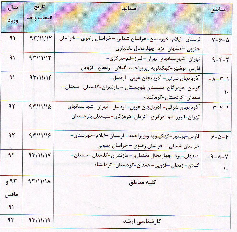 انتخاب واحد دانشگاه فرهنگیان