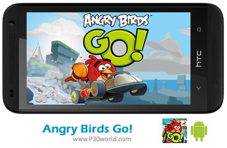 دانلود بازی angry birds go پرندگان خشمگین و  مسابقات ماشین سواری