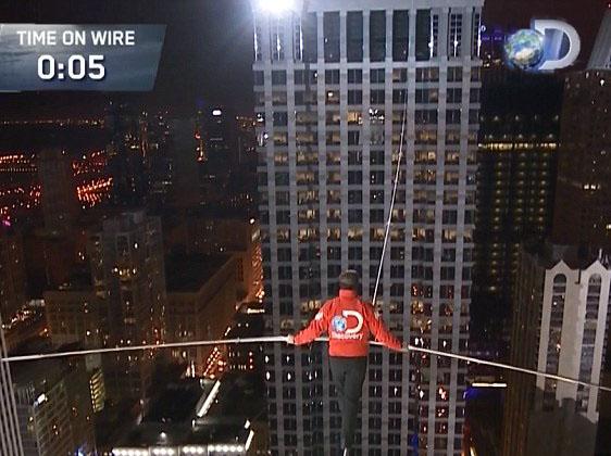دانلود کلیپ بندبازی مرگبار بین دو آسمانخراش شیکاگو