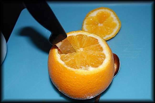 پرتقال بخارپز شده برای درمان سرفه
