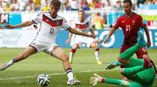 گل های بازی آلمان و پرتغال