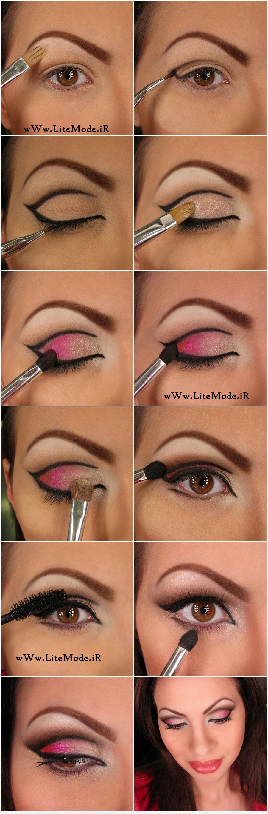 آموزش قدم به قدم آرایش چشم,آموزش مرحله به مرحله آرایش چشم