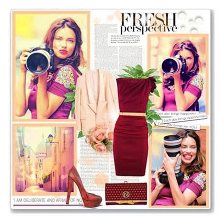 ستارگان هالیوودی,ست کردن لباس به رنگ سال 2015
