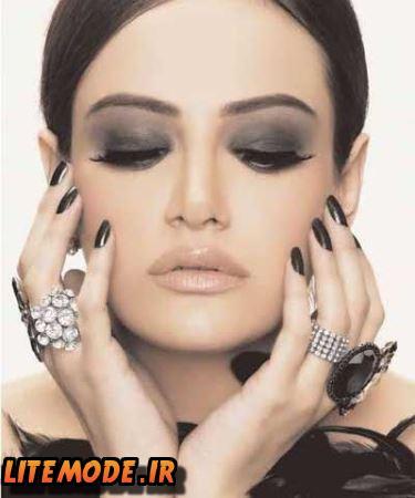 مدل آرایش شب جدید,میکاپ صورت