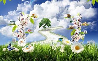 تصویری از بهشت توصیف شده در قرآن