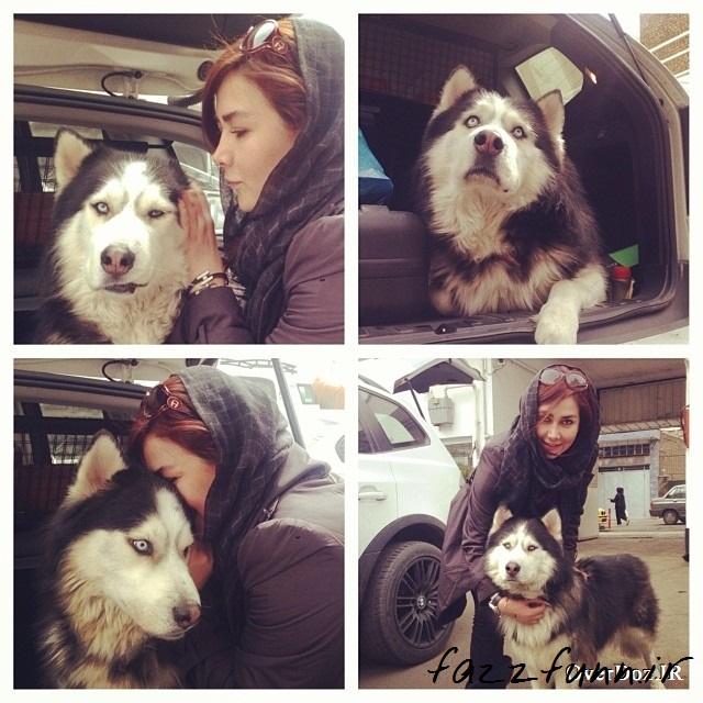 عکس جدید و کمیاب آنا نعمتی و سگش