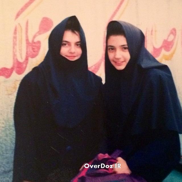 عکس کمیاب و دیدنی شبنم قلی خانی در دوران دبیرستان