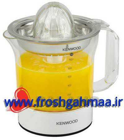 آب مرکبات گیر کن وود Kenwood مدل JE 290 قدرت 60 وات، دارای فیلتر فلزی، دارای مخزن یا پارچ 1 لیتری جمع آوری آب