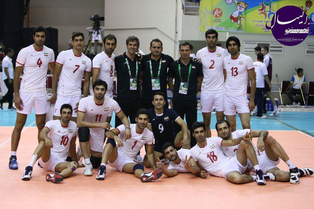 تیم ملی والیبال ب در فینال مقابل مصر صف آرایی می کند !