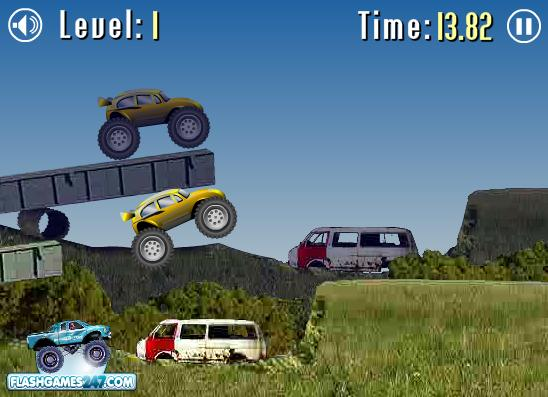 بازی آنلاین مسابقه با کامیون دیوانه