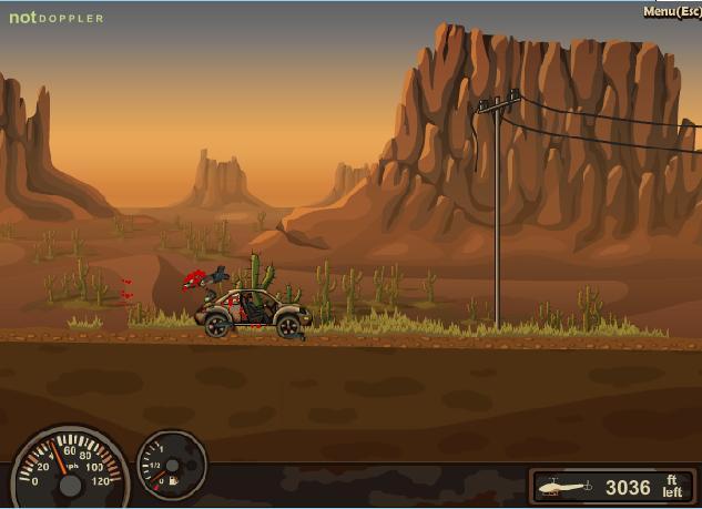 بازی آنلاین کشتن زامبی ها با ماشین