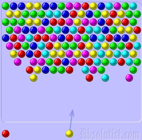بازی آنلاین سه توپ همرنگ Bubble Shooter