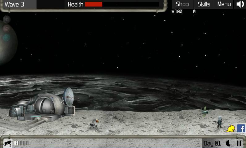 بازی آنلاین جنگ با موجودات فضایی Nuclear Plant 2