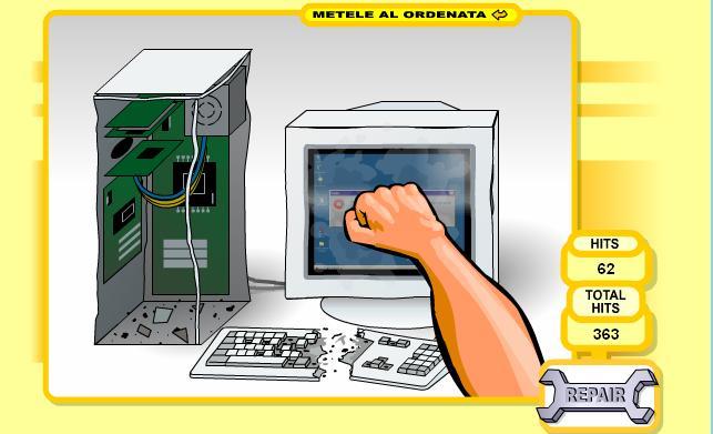 بازی آنلاین مشت زدن به کامپیوتر PC Breakdown