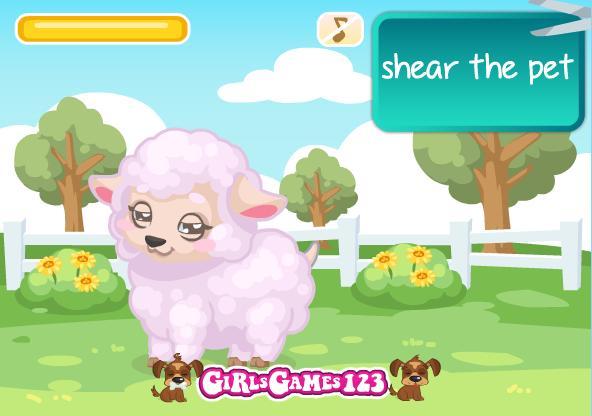 بازی دخترانه آنلاین پرستار کوچولو Lamb Care