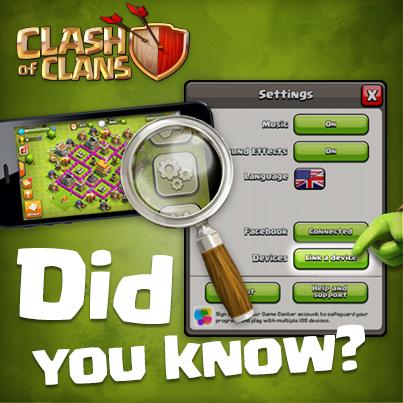 آموزش انتقال اکانت بازی clash of clans بین دو دستگاه