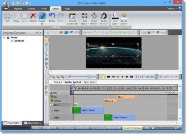 نرمافزار صداگذاری روی فیلم VSDC Free Video Editor v2.20