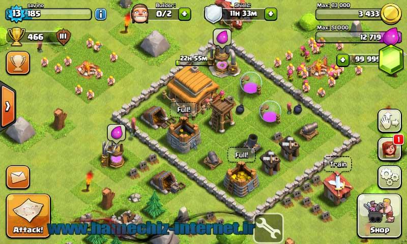 هک بازی clash of clans با آموزش تصویری 100% تست شده