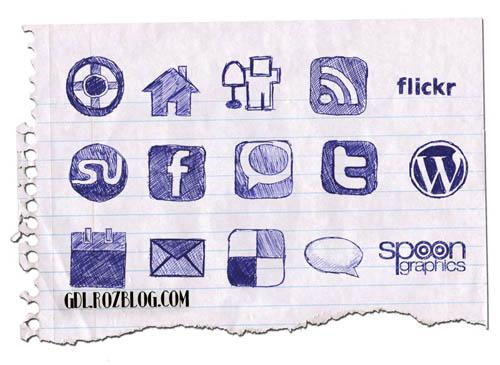 دانلود مجمعوعه ایکون برای وبسایتها Doodle-Icons