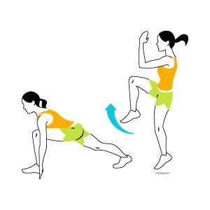 ۴ حرکت مفید برای تناسب اندام و کاهش وزن