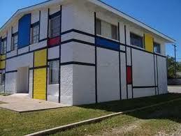 نمونه الگوگیری از سبک موندریان در معماری