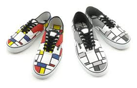الگوگیری از سبک موندریان در طراحی کفش