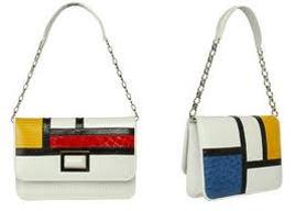 الگو گیری از سبک موندرین در طراحی کیف های دستی