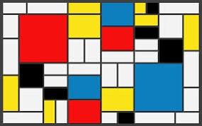 ماتریس کامپیوتری که خروجی تصویری ان به نمونه های انتزاعی این سبک بسیار نزدیک است