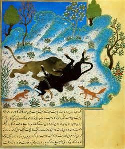 کلیله و دمنه(۲)- حکایت برگزیده(۲)  قسمتی از باب دوم( شیر و گاو)