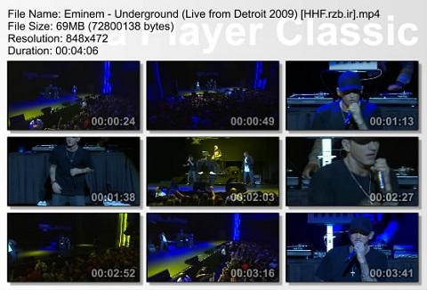 Eminem - Underground (Live from Detroit 2009
