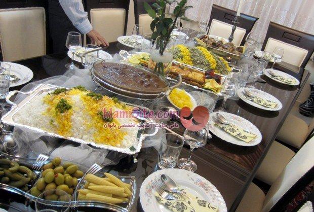 چیدمان میزهای مهمانی ایرانی
