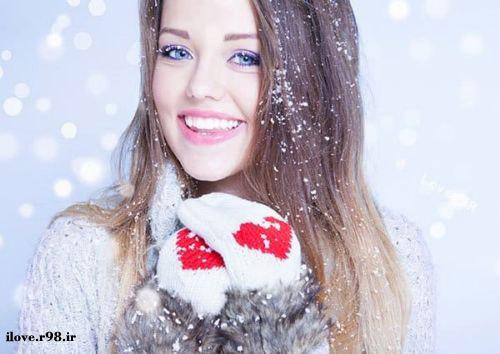 عکس پروفایل دخترانه | عکس دختران زیبا در زمستان