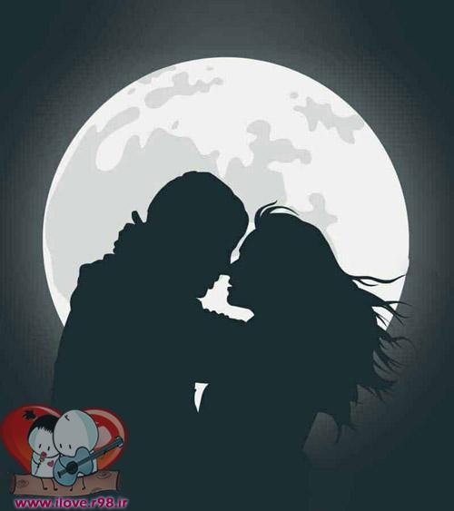 دلنوشته عاشقانه بوسه کردن
