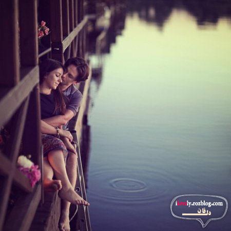 عکس بوسه لب عاشقانه