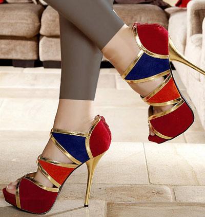 انواع مدل های کفش پاشنه بلند دخترانه جدید 2013