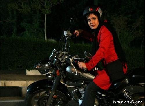 عکس جدید الناز شاکردوست سوار بر موتور سیکلت سنگین