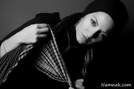 عکس سیاه و سفید از مهناز افشار
